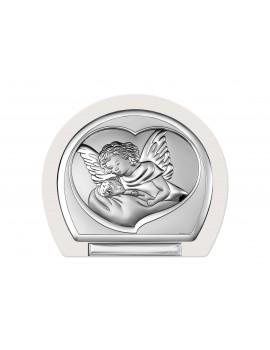 Obrazek srebrny Aniołek nad dzieciątkiem 6525T/3W