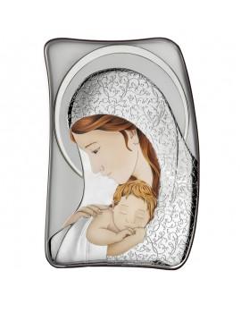 Obrazek srebrny Madonna z dzieciątkiem AE0208/4D