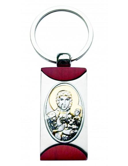 Brelok srebrny Matka Boska Częstochowska B006CZ