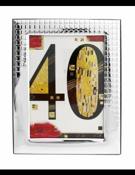Ramka srebrna 40 Urodziny 1116/3