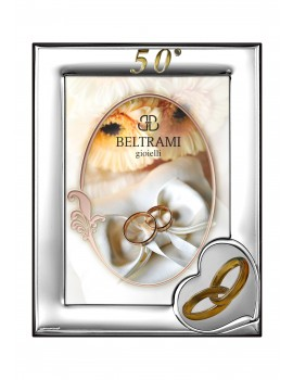 Ramka srebrna na zdjęcie 13x18 50-lecie Ślubu 1161N/504L