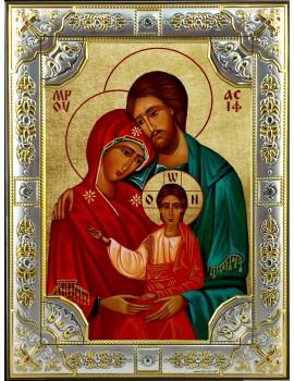 Ikona Srebrna Święta Rodzina IKR A-01