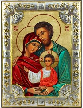 Ikona Srebrna Święta Rodzina IKR B-02