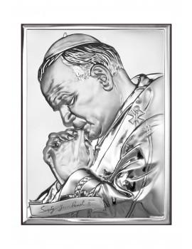 Obrazek srebrny  Święty Jan Paweł II 6287/2X