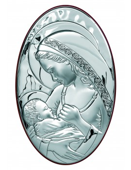 Obrazek srebrny  Madonna z dzieciątkiem 6336/5