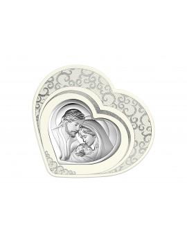 Obrazek srebrny Święta Rodzina - Serce 6432/2PZ