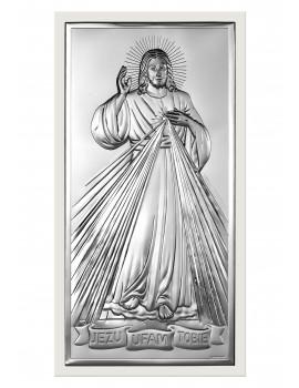Obrazek srebrny  Jezu Ufam Tobie 6443/2W