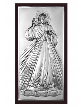 Obrazek srebrny  Jezu Ufam Tobie 6443/3WM
