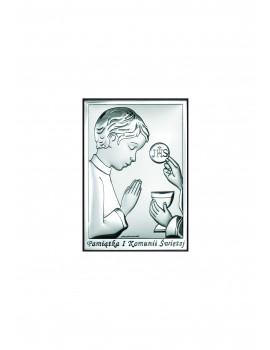 Obrazek Srebrny Pamiątka Pierwszej Komunii Świętej 6491/2XO