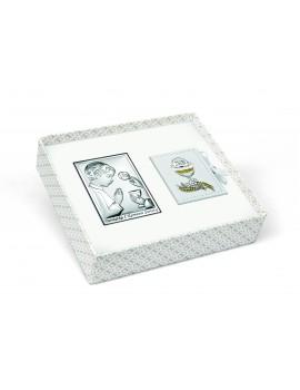 Zestaw Obrazków Srebrnych Pamiątka Pierwszej Komunii Świętej 6491/OSET