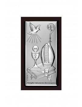 Obrazek srebrny Pamiątka Bierzmowania 6682S/2WM