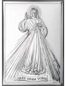 Obrazek srebrny  Jezu Ufam Tobie 80001/2PL