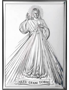 Obrazek srebrny  Jezu Ufam Tobie 80001/4PL