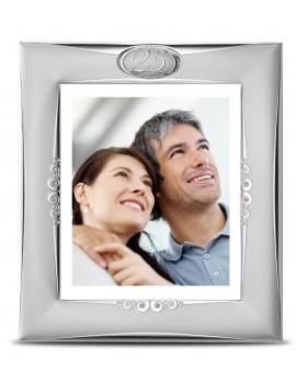 Ramka srebrna na zdjęcie 13x18 25-lecie Ślubu AE0152/13