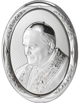 Obrazek srebrny Papież Święty Jan Paweł II AG2562/471