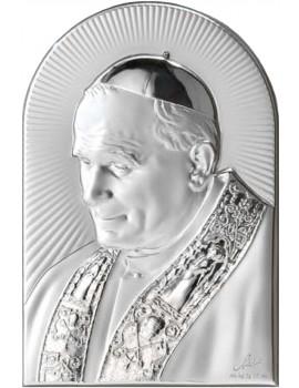 Obrazek srebrny Papież Święty Jan Paweł II AG2564/169