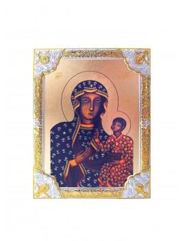 Ikona Srebrna Matka Boska Częstochowska IK1B-04SZR