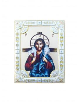 Ikona Srebrna Chrystus Dobry Pasterz IK1C-06SZR