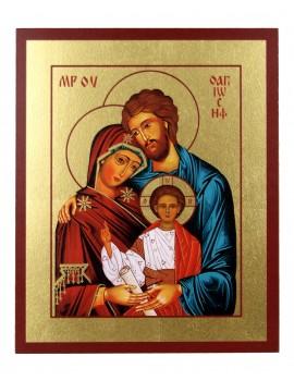 Ikona Złocona Święta Rodzina IK C-02