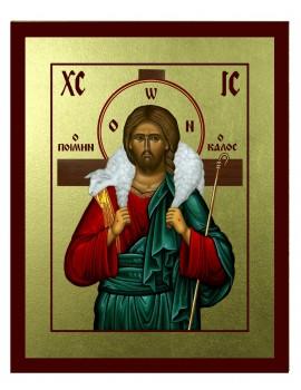 Ikona Złocona Chrystus Dobry Pasterz IK A-18