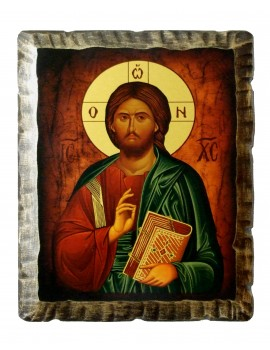 Ikona Stylizowana Chrystus Pantokrator IKN D-12